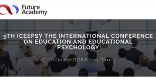 9th ICEEPSY The International Conference on Education and Educational Psychology