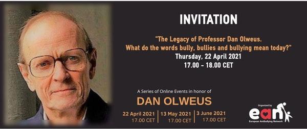 Σχολικός εκφοβισμός: Το ΕΑΝ διοργανώνει κύκλο τριών διαδικτυακών εκδηλώσεων προς τιμήν του Καθηγητή Dan Olweus